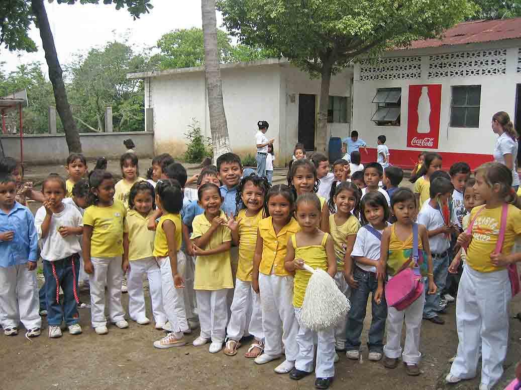 Escolares en el cole