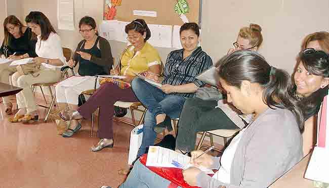 convocadas a un curso de Acción Social