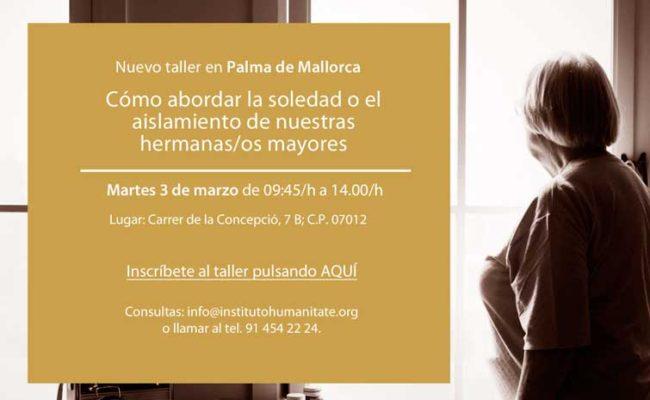 taller en Mallorca CÓMO ABORDAR LA SOLEDAD