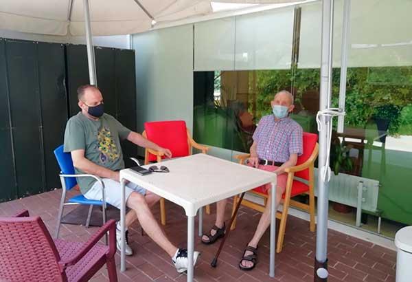 Nuevo espacio para las visitas en la residencia de Collado